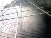 屋根足場の写真