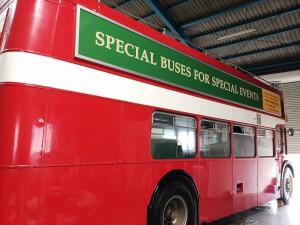 ロンドンバス後方 庫内